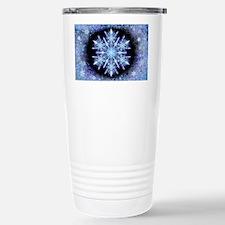 October Snowflake - wide Stainless Steel Travel Mu