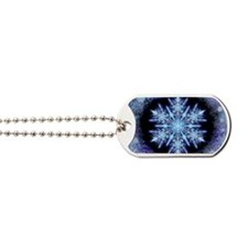 October Snowflake - greeting card Dog Tags