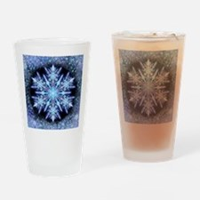 October Snowflake - square Drinking Glass