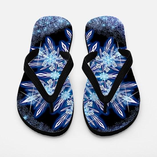 October Snowflake - square Flip Flops