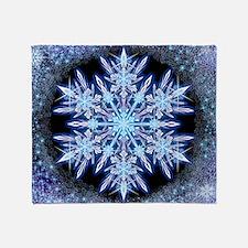 October Snowflake - square Throw Blanket