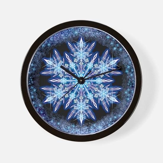 October Snowflake - square Wall Clock