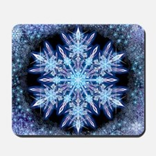 October Snowflake - square Mousepad