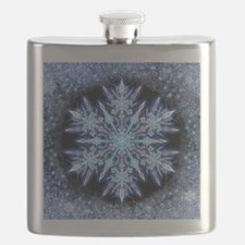 October Snowflake - square Flask