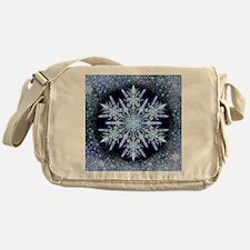 October Snowflake - square Messenger Bag