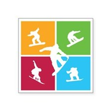 "snowboarding5 Square Sticker 3"" x 3"""