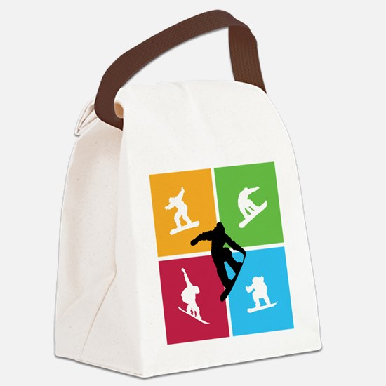 snowboarding6 Canvas Lunch Bag