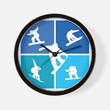 snowboarding3 Wall Clock