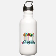 At my age i need glasses Water Bottle