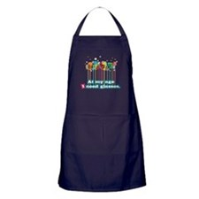 At my age i need glasses Apron (dark)