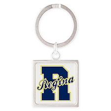 Regina Letter Square Keychain