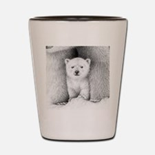 Circle pendant (polar cub) Shot Glass