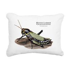 Horse Lubber Grasshopper Rectangular Canvas Pillow