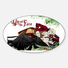 TheLilyAndTheRose_wallcalendar Sticker (Oval)
