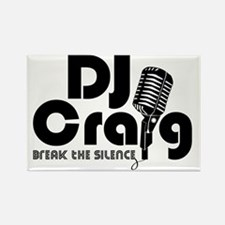 DJ Craig Logo Black Rectangle Magnet