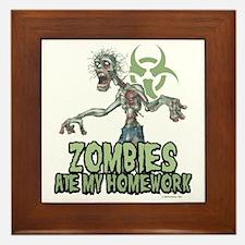 Zombies-Ate-Homework Framed Tile