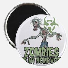 Zombies-Ate-Homework Magnet