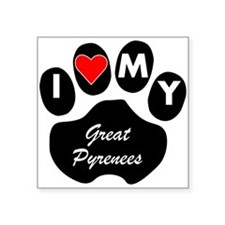 I Heart My Great Pyrenees Sticker