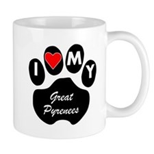 I Heart My Great Pyrenees Mugs