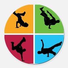breakdance9 Round Car Magnet