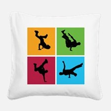 breakdance9 Square Canvas Pillow