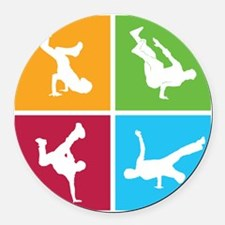 breakdance10 Round Car Magnet
