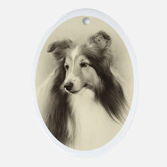VSheltie#2Plain Oval Ornament