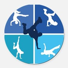 breakdance4 Round Car Magnet