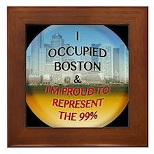 OCCUPY-Boston Framed Tile