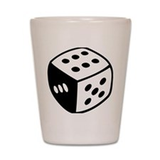 dice_real Shot Glass