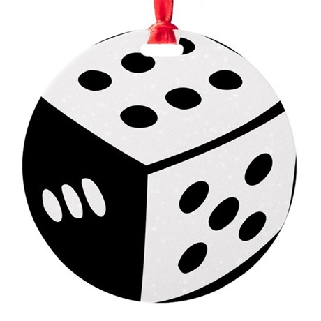 dice_real Round Ornament