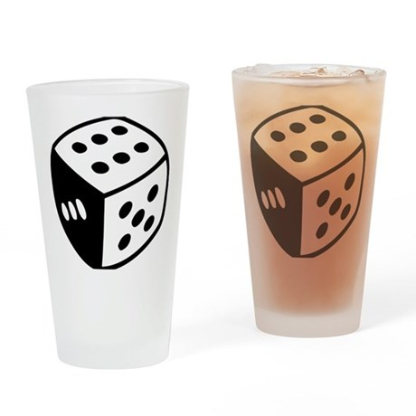 dice_real Drinking Glass