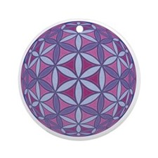FlowerOfLife_Uni_Lrg Round Ornament