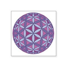 "FlowerOfLife_Uni_Lrg Square Sticker 3"" x 3"""