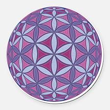 FlowerOfLife_Uni_Lrg Round Car Magnet