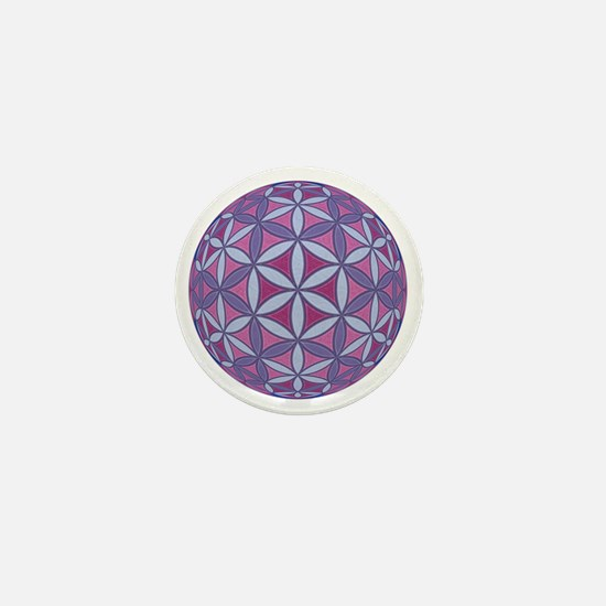 FlowerOfLife_Uni_Lrg Mini Button