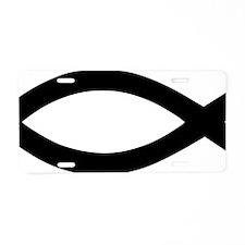jesus_fish_fat Aluminum License Plate