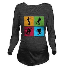 skateboarding Long Sleeve Maternity T-Shirt