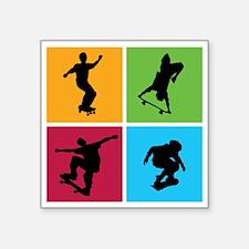 """skateboarding Square Sticker 3"""" x 3"""""""
