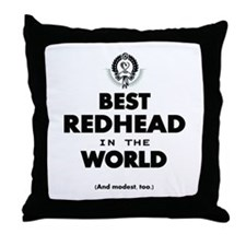 The Best in the World – Redhead Throw Pillow