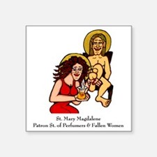 "Mary Magdalene Square Sticker 3"" x 3"""