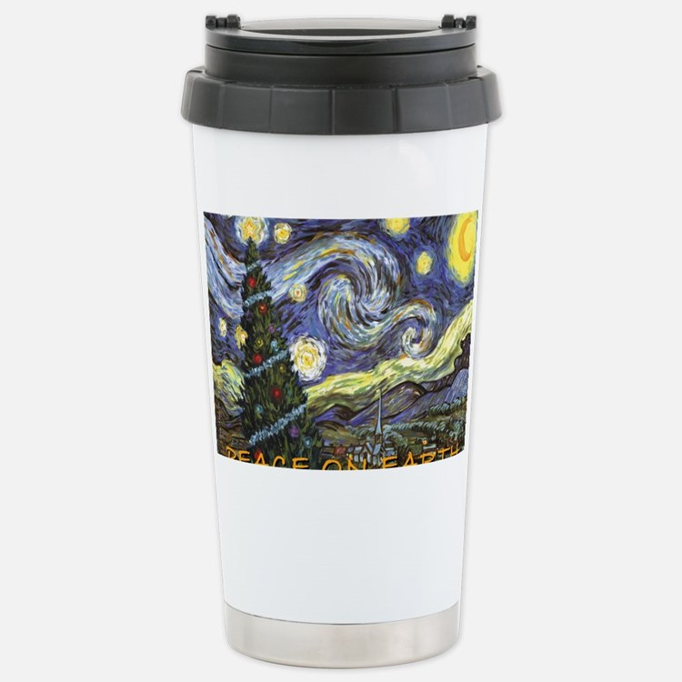 Starry Night/ Peace on Earth Travel Mug