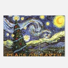Starry Night/ Peace on Ea Postcards (Package of 8)