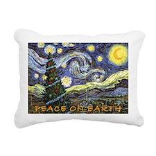 Starry Night/ Peace on E Rectangular Canvas Pillow