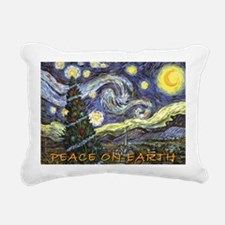 Starry Night/ Peace on E Rectangular Canvas Pillow