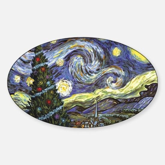 Starry Night/ Peace on Earth Sticker (Oval)