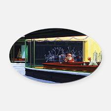 Christmas Diner Oval Car Magnet