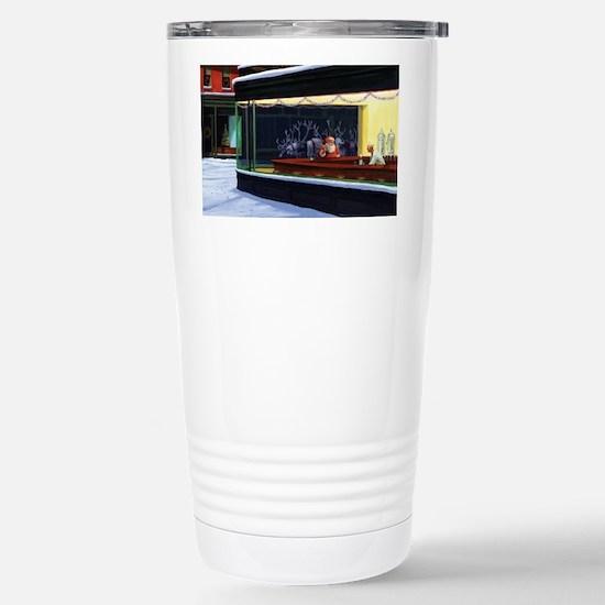 Christmas Diner Stainless Steel Travel Mug