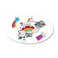 Unicorn And Penguin Craptastic Day Wall Decal