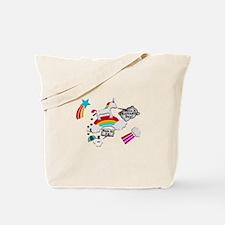 Unicorn And Penguin Craptastic Day Tote Bag